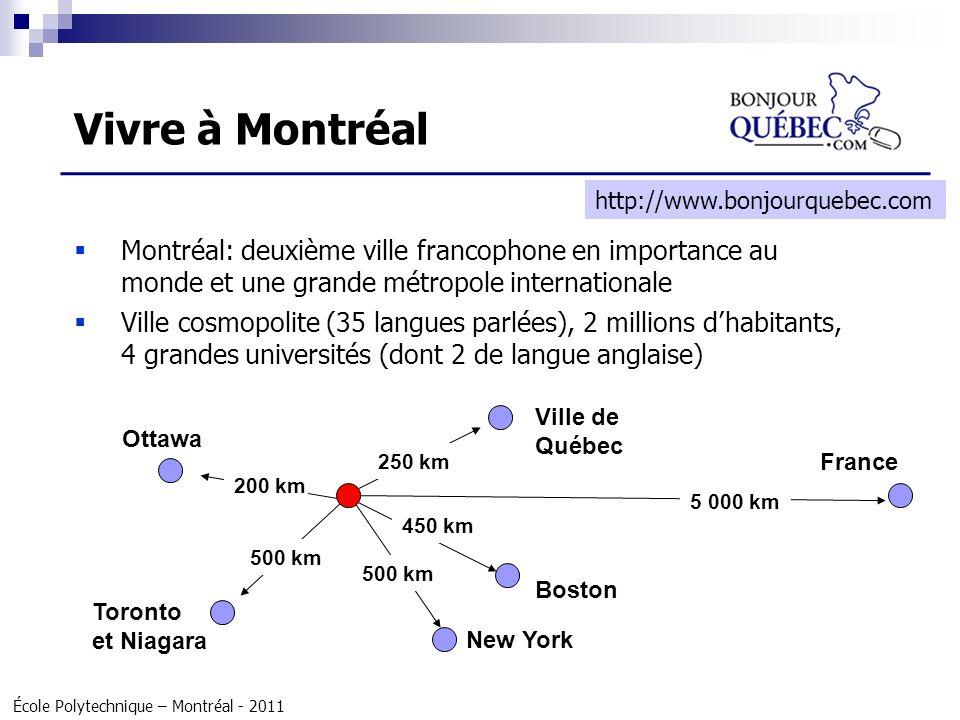 Vivre à Montréal http://www.bonjourquebec.com. Montréal: deuxième ville francophone en importance au monde et une grande métropole internationale.