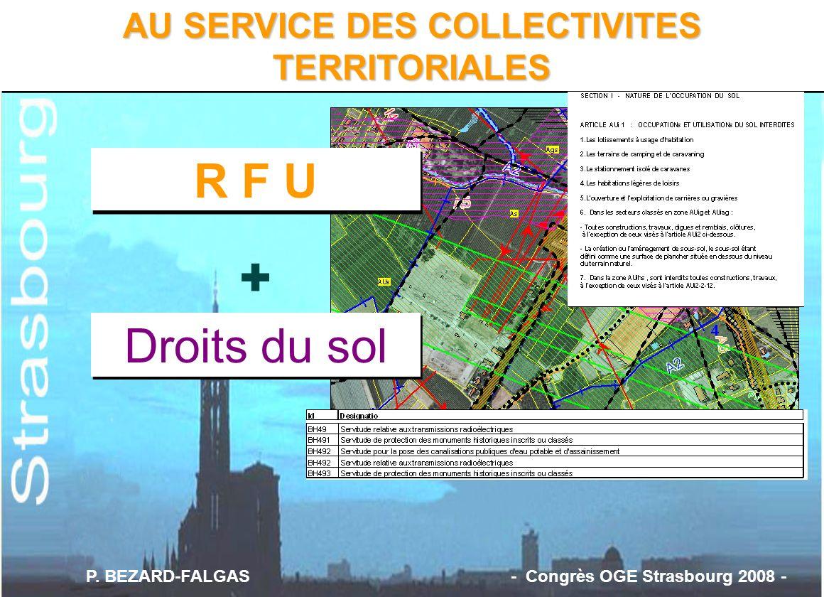 + R F U Droits du sol AU SERVICE DES COLLECTIVITES TERRITORIALES