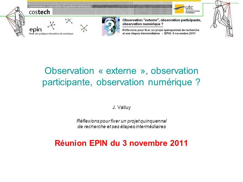 Réunion EPIN du 3 novembre 2011
