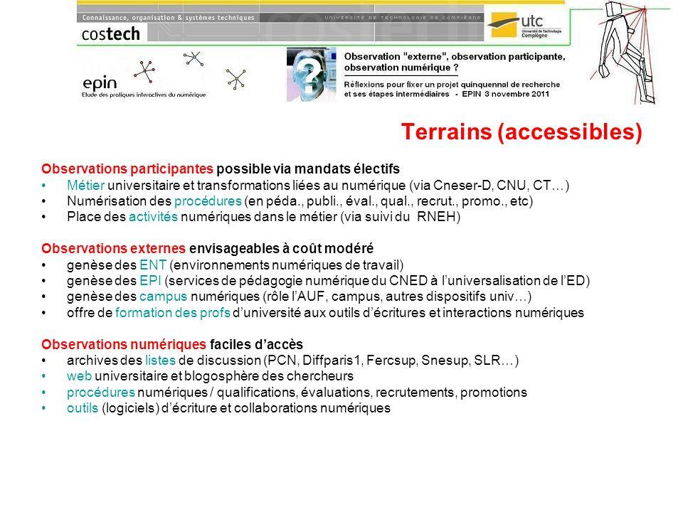 Terrains (accessibles)