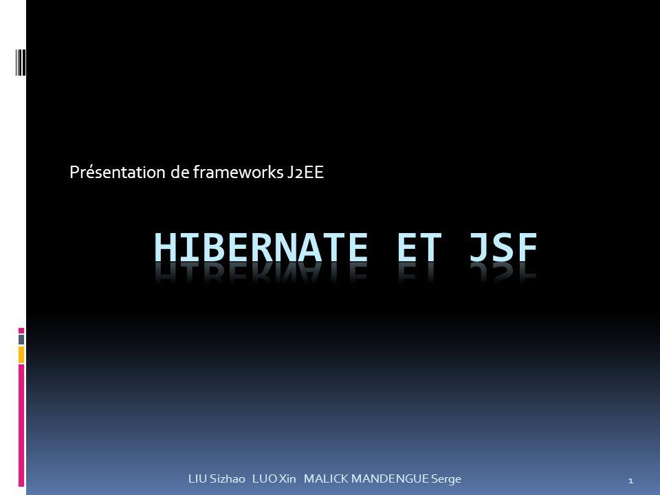 Présentation de frameworks J2EE