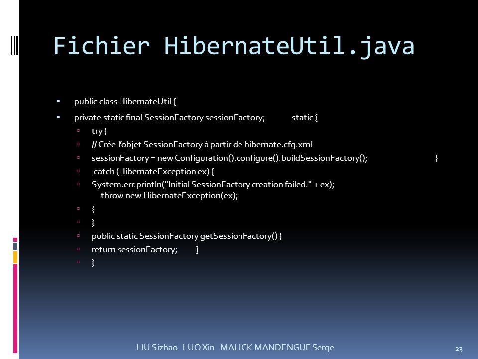 Fichier HibernateUtil.java
