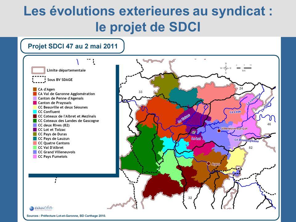 Les évolutions exterieures au syndicat : le projet de SDCI