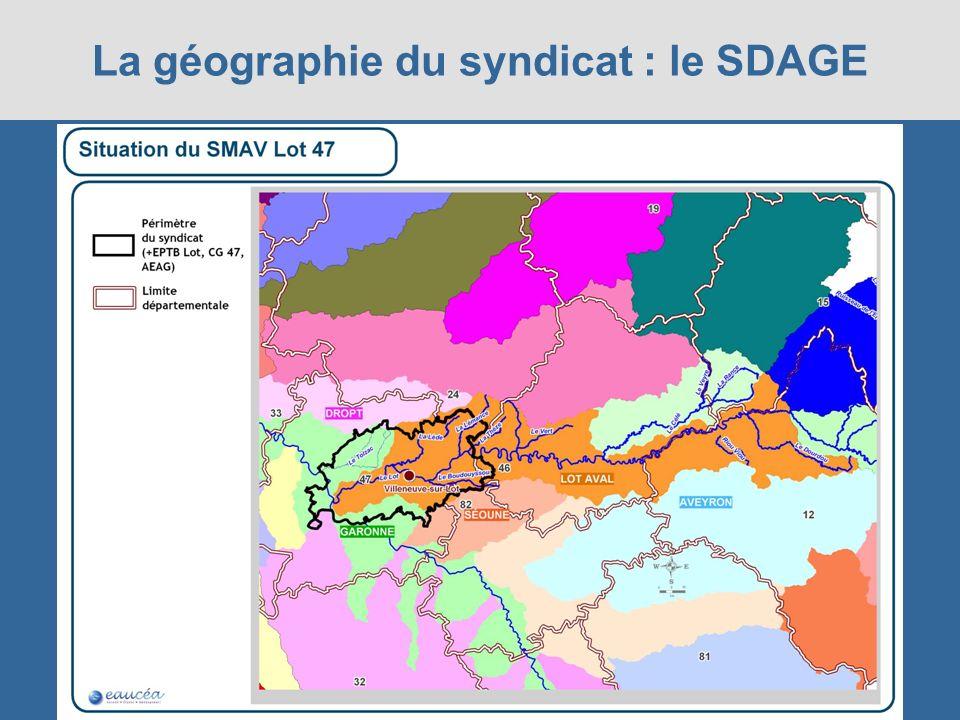 La géographie du syndicat : le SDAGE