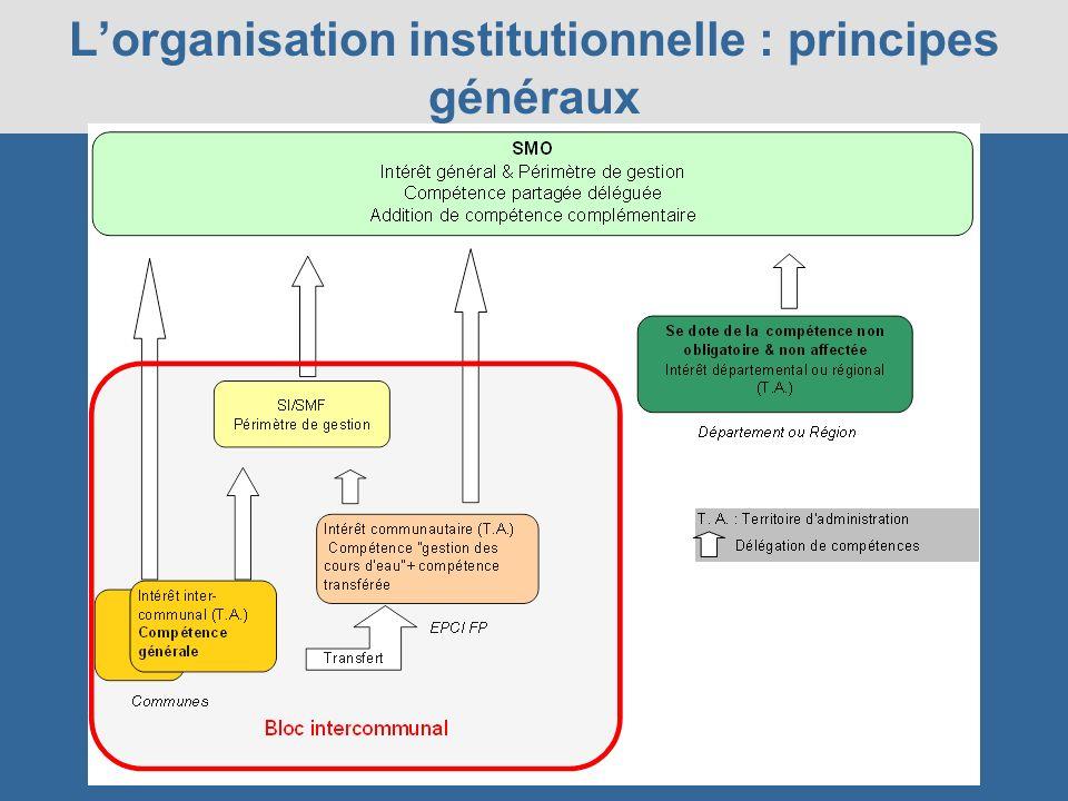 L'organisation institutionnelle : principes généraux