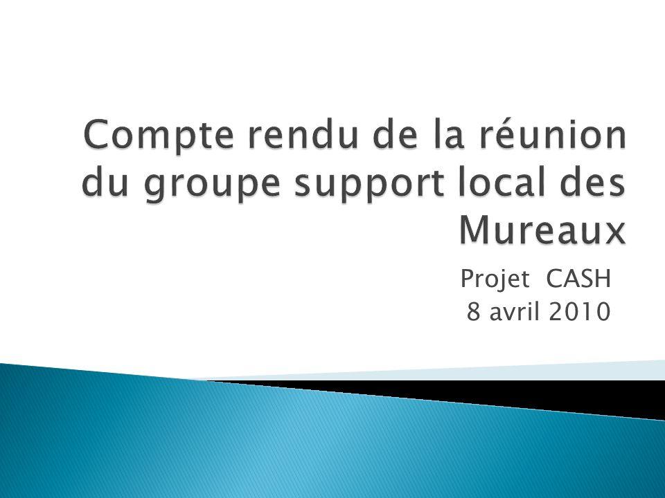Compte rendu de la réunion du groupe support local des Mureaux