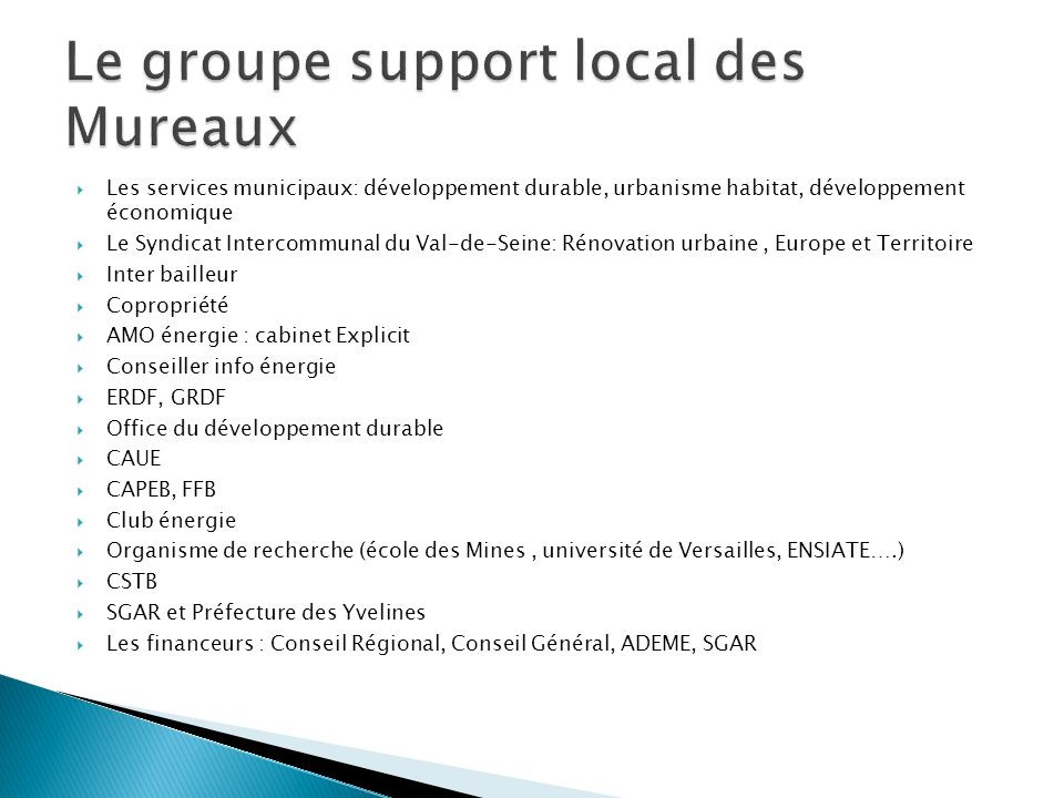 Le groupe support local des Mureaux