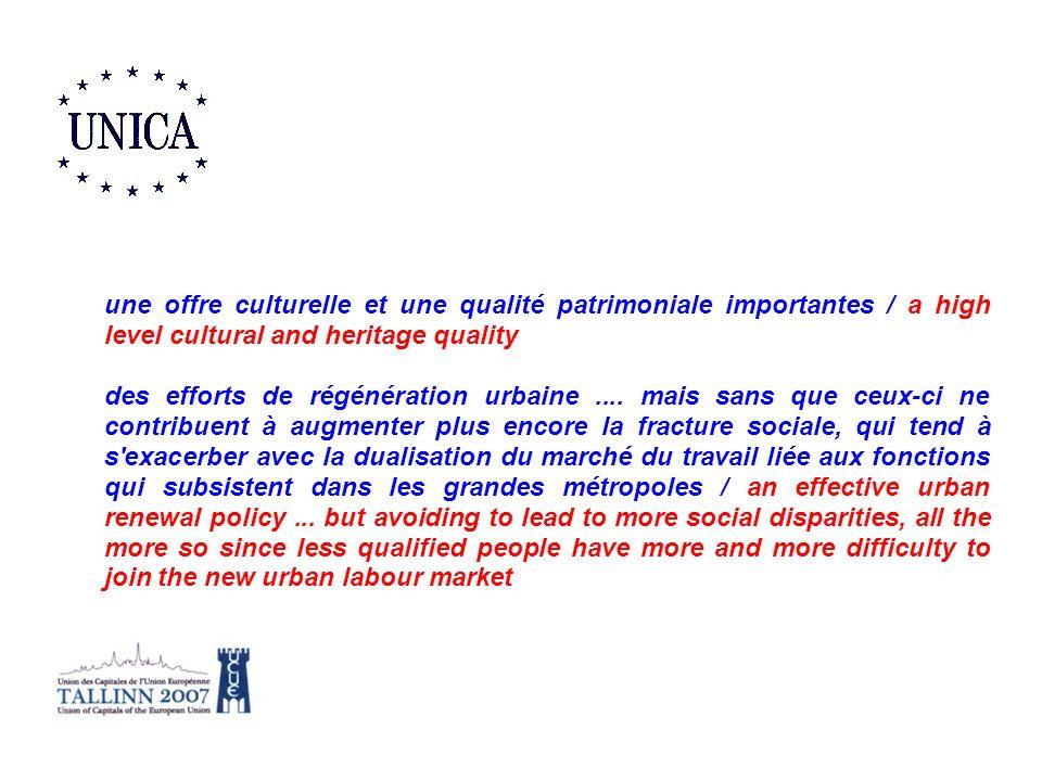 une offre culturelle et une qualité patrimoniale importantes / a high level cultural and heritage quality