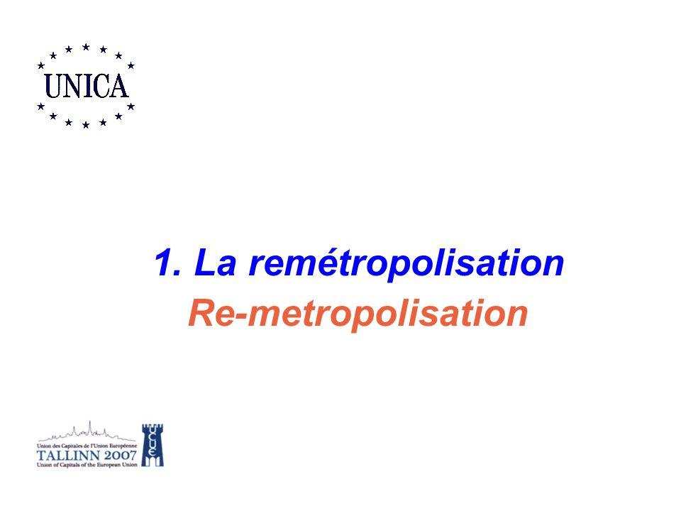 1. La remétropolisation Re-metropolisation