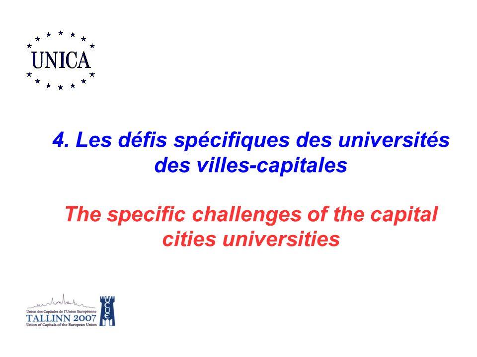 4. Les défis spécifiques des universités des villes-capitales
