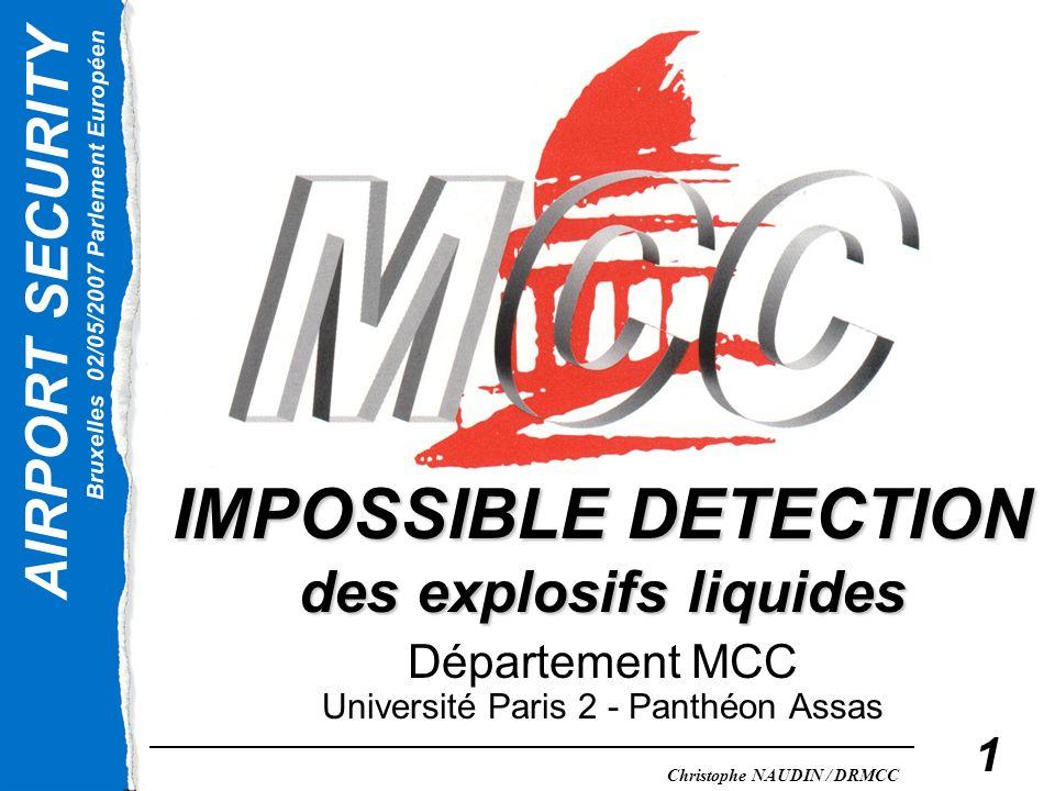 IMPOSSIBLE DETECTION des explosifs liquides