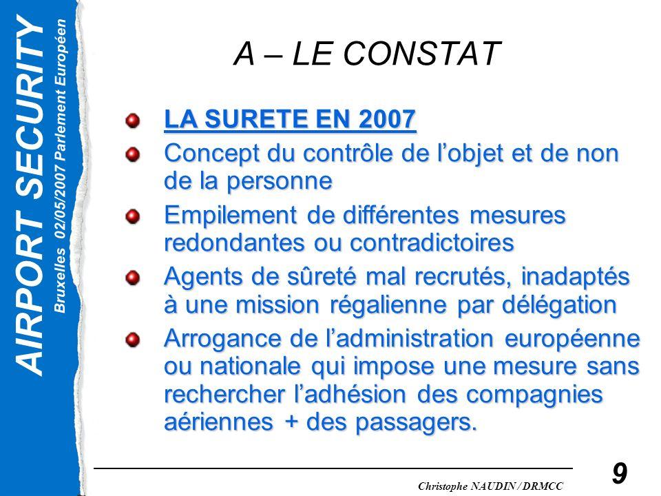 A – LE CONSTAT LA SURETE EN 2007