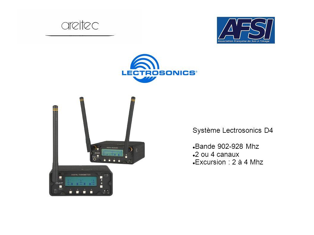 Système Lectrosonics D4