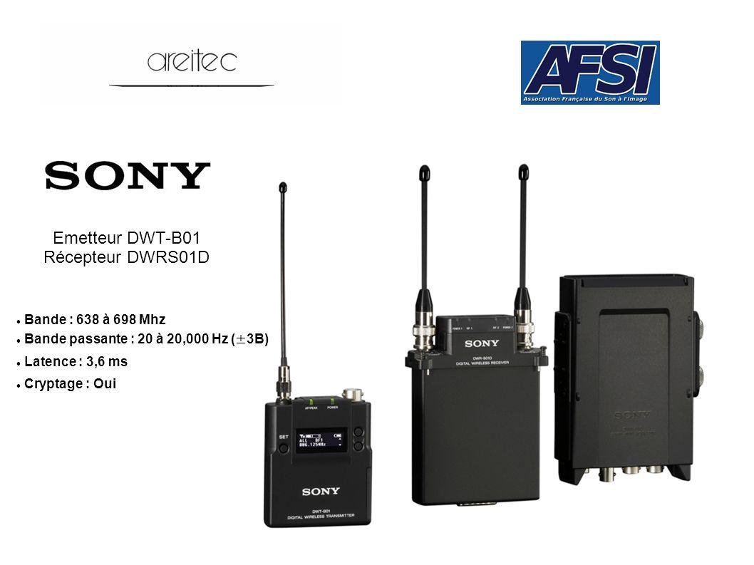 Emetteur DWT-B01 Récepteur DWRS01D Bande : 638 à 698 Mhz