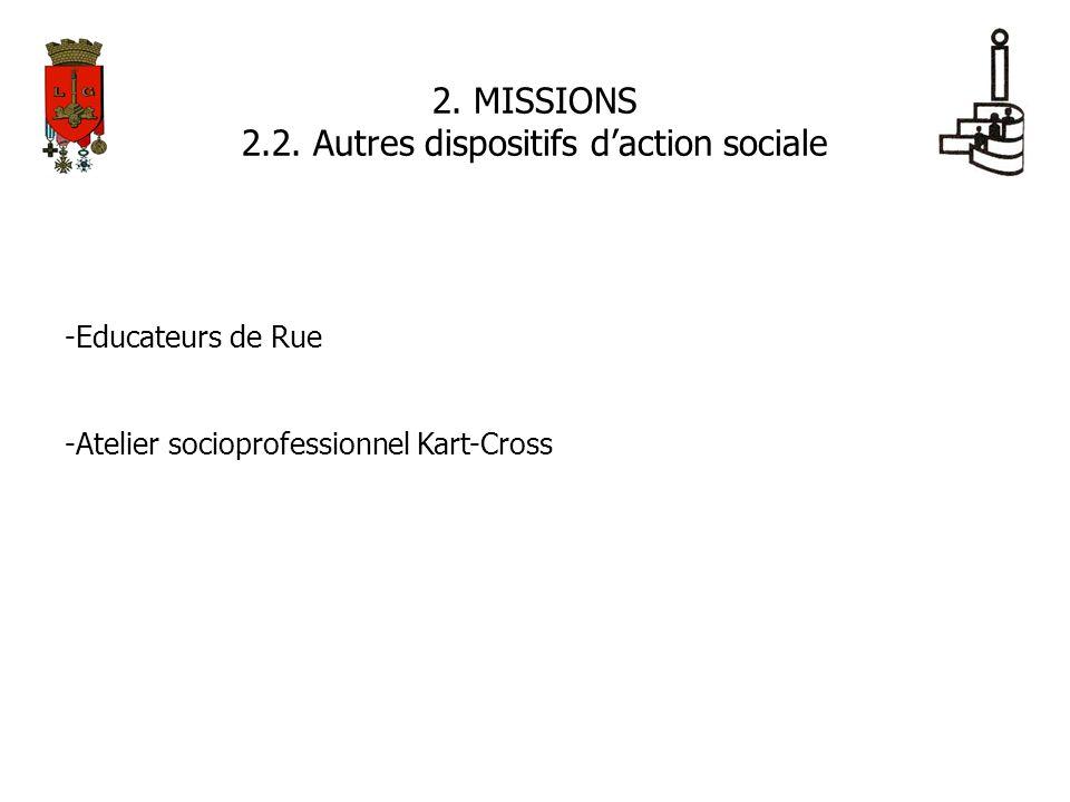 2.2. Autres dispositifs d'action sociale