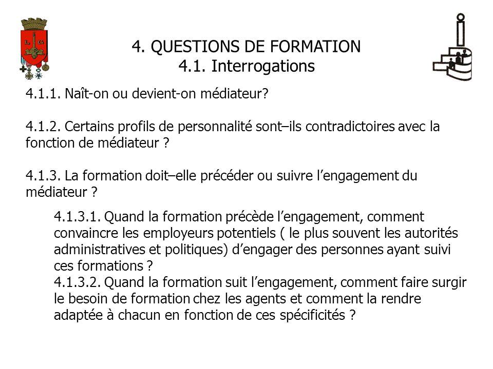 4. QUESTIONS DE FORMATION