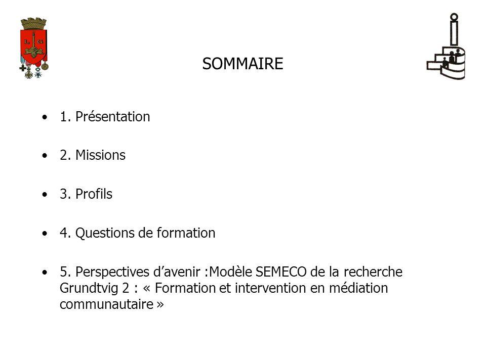 SOMMAIRE 1. Présentation 2. Missions 3. Profils