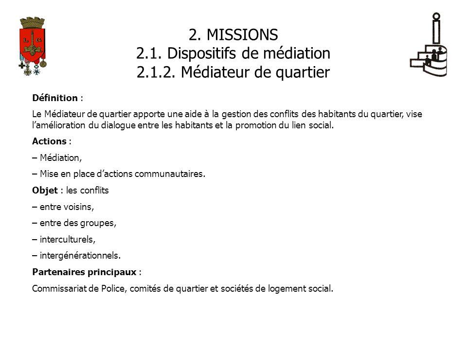 2.1. Dispositifs de médiation