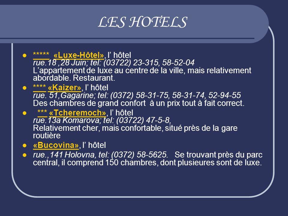 LES HOTELS