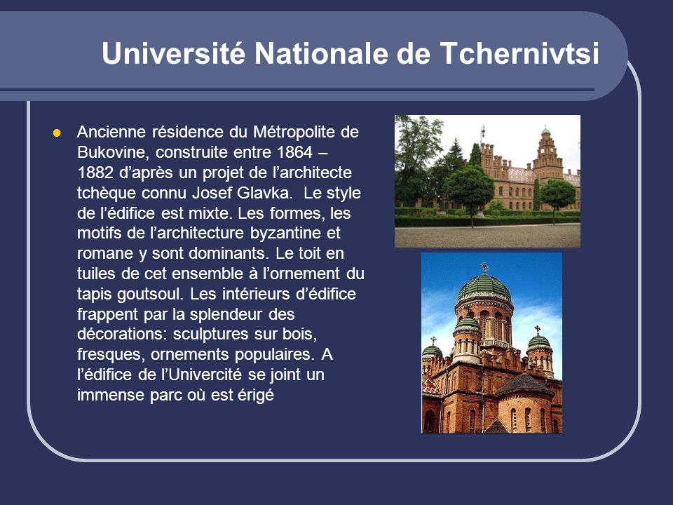 Université Nationale de Tchernivtsi