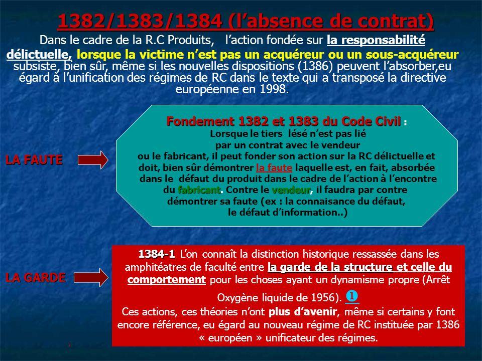 1382/1383/1384 (l'absence de contrat)