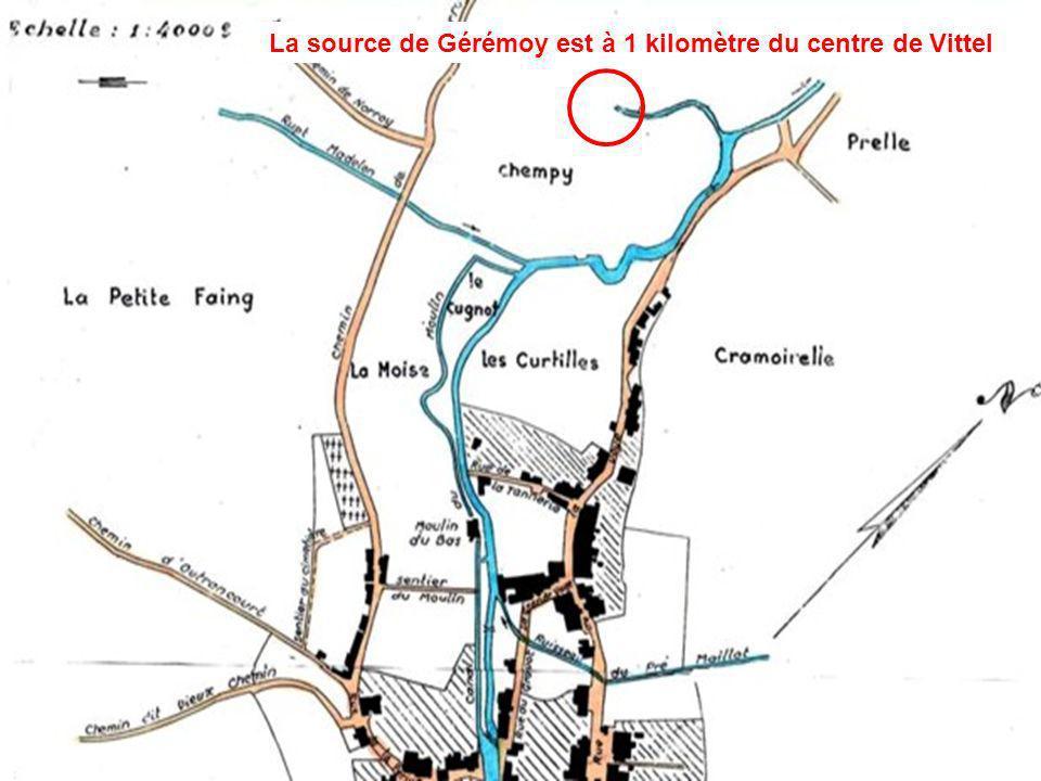 La source de Gérémoy est à 1 kilomètre du centre de Vittel