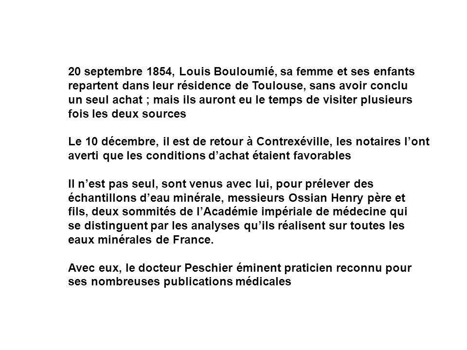 20 septembre 1854, Louis Bouloumié, sa femme et ses enfants