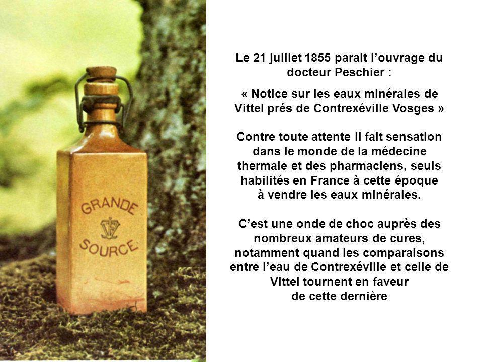 Le 21 juillet 1855 parait l'ouvrage du docteur Peschier :