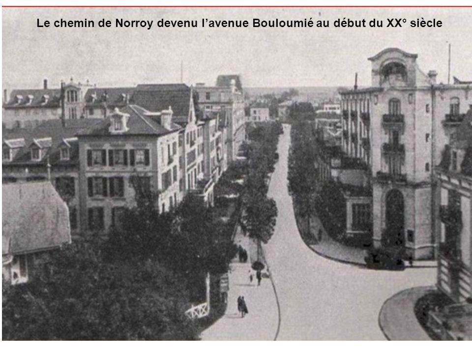 Le chemin de Norroy devenu l'avenue Bouloumié au début du XX° siècle