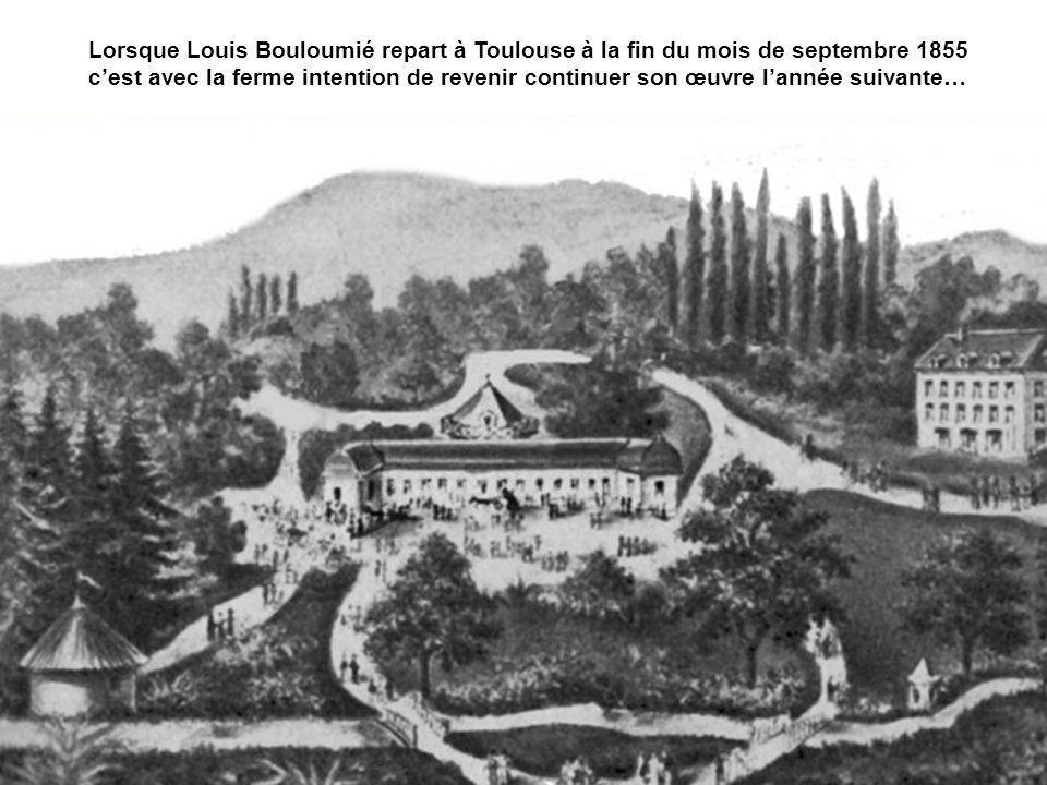 Lorsque Louis Bouloumié repart à Toulouse à la fin du mois de septembre 1855