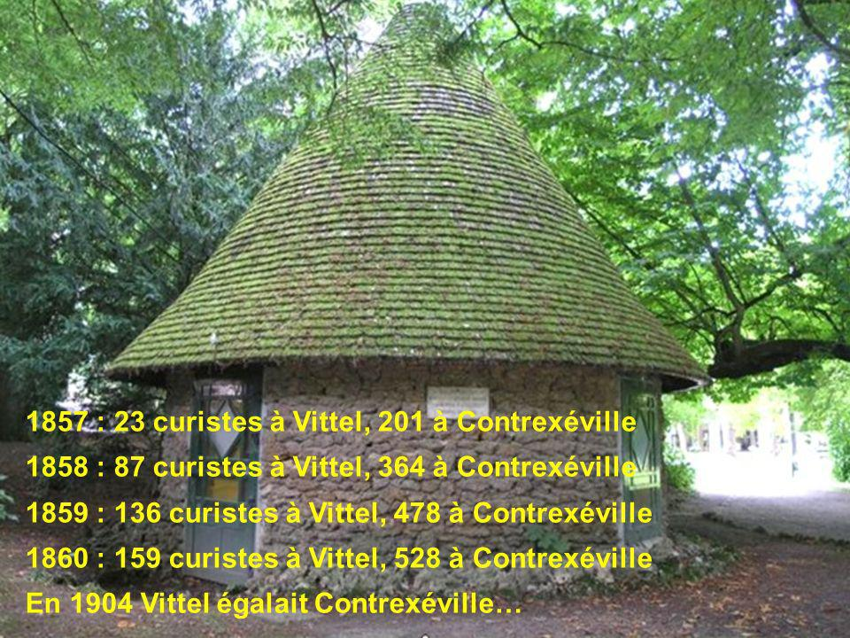 1857 : 23 curistes à Vittel, 201 à Contrexéville