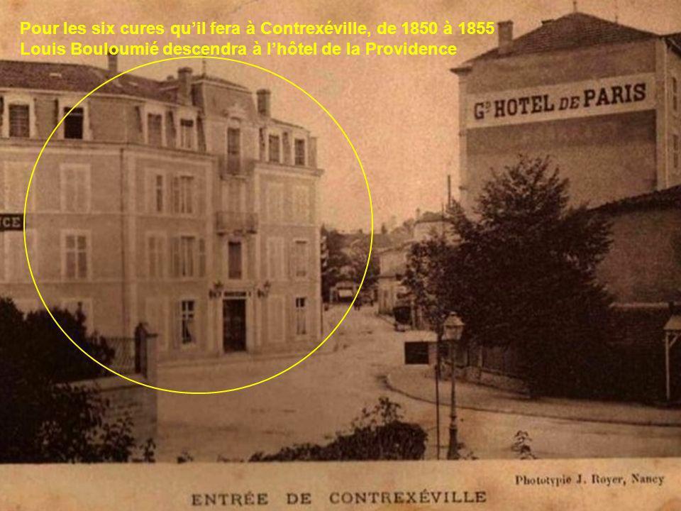 Durant les séjours qu'il fera à Contrexéville, Louis Bouloumié aura de pénibles