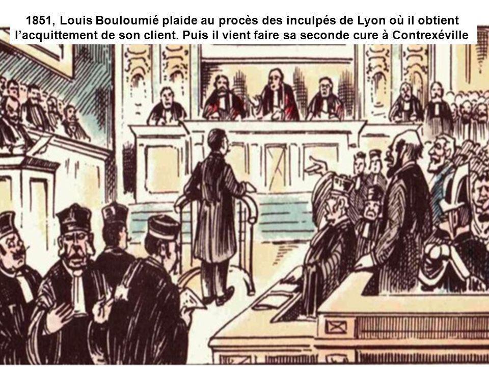 1851, Louis Bouloumié plaide au procès des inculpés de Lyon où il obtient