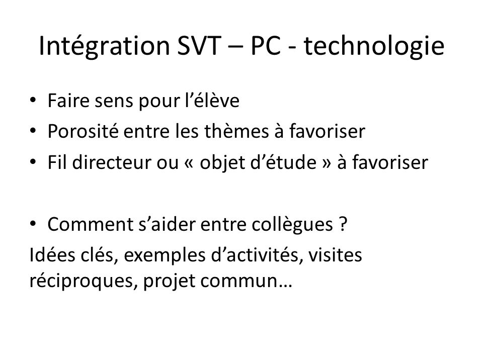 R forme du coll ge formation disciplinaire svt ppt video for Plante 21 svt