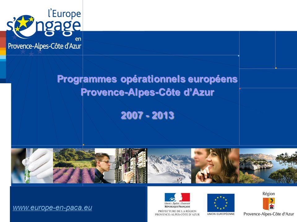 Programmes opérationnels européens