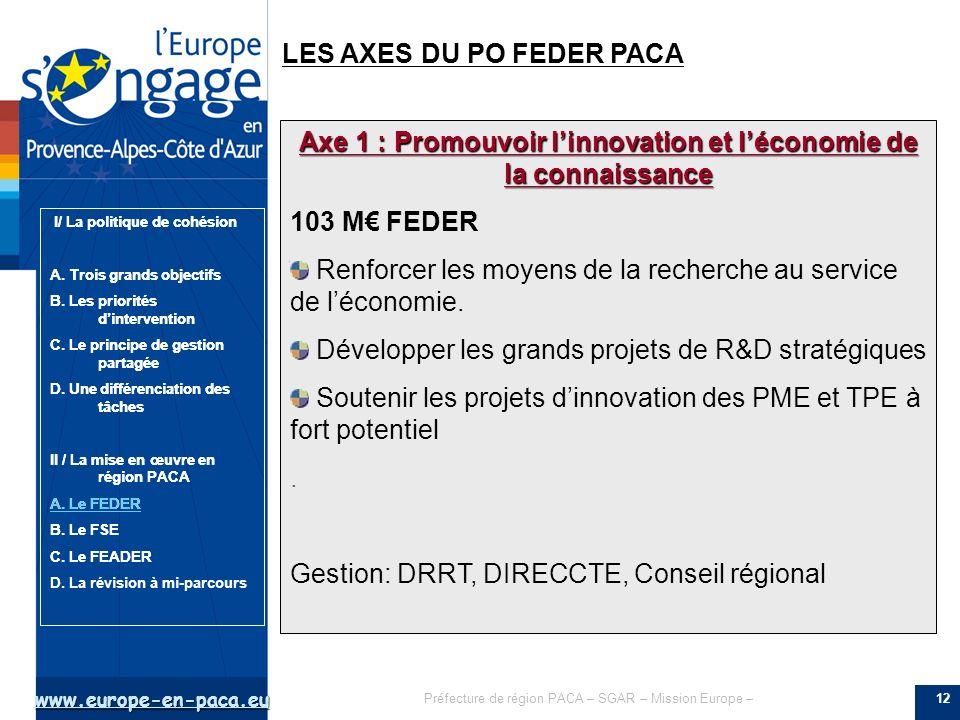 Axe 1 : Promouvoir l'innovation et l'économie de la connaissance