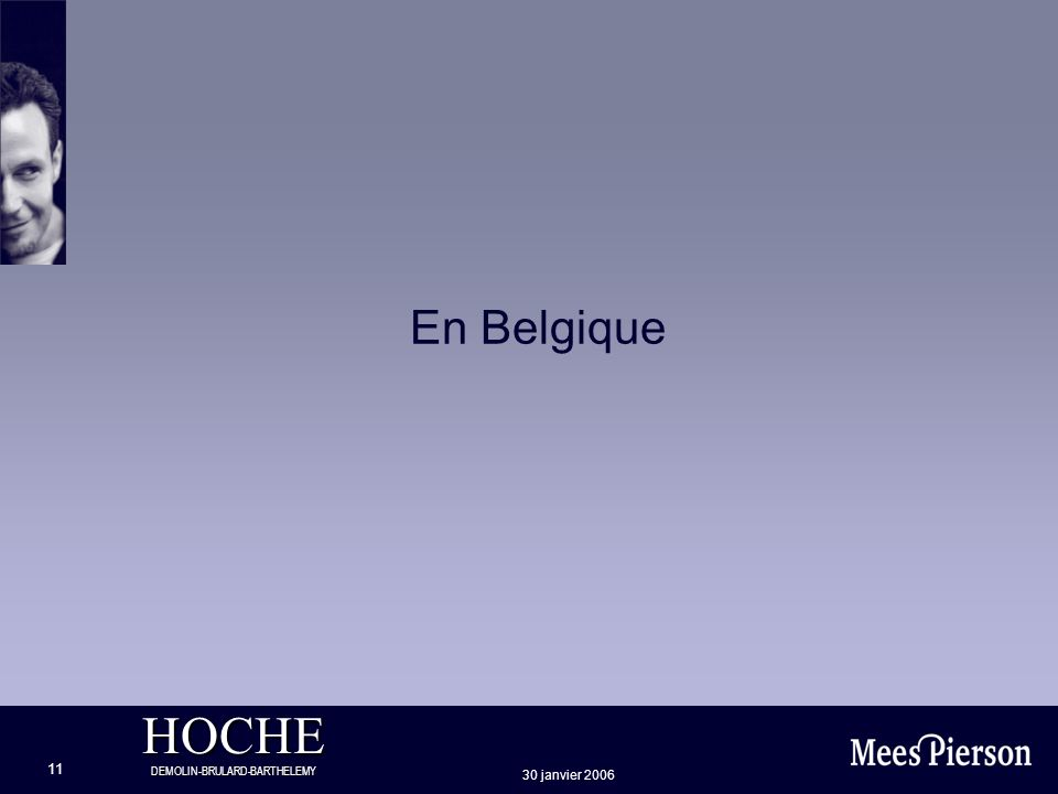 En Belgique 30 janvier 2006
