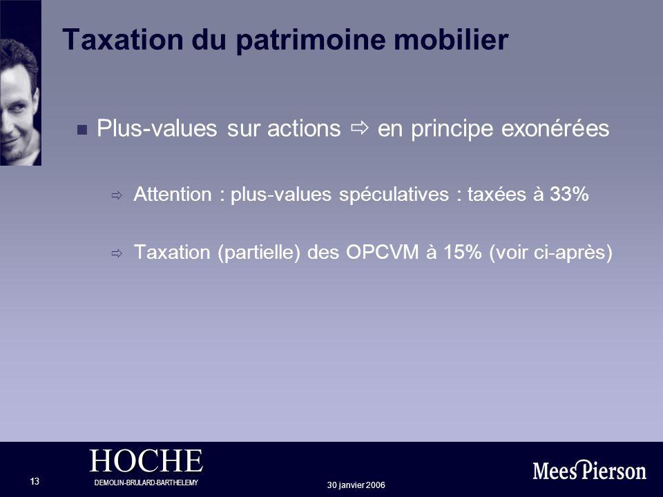 Taxation du patrimoine mobilier