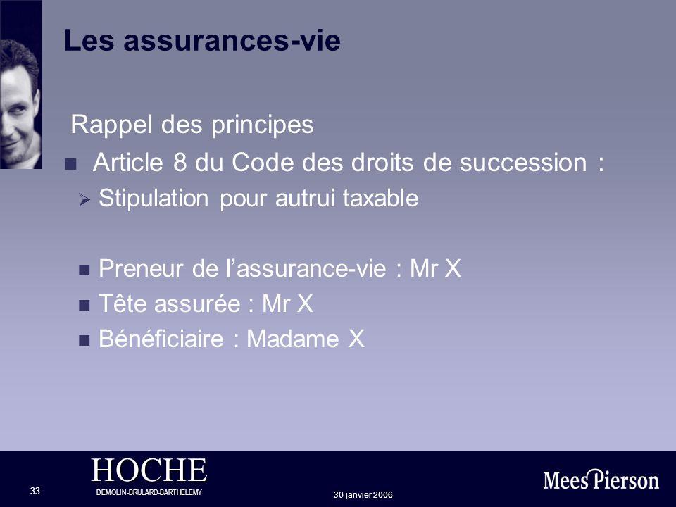 Les assurances-vie Rappel des principes