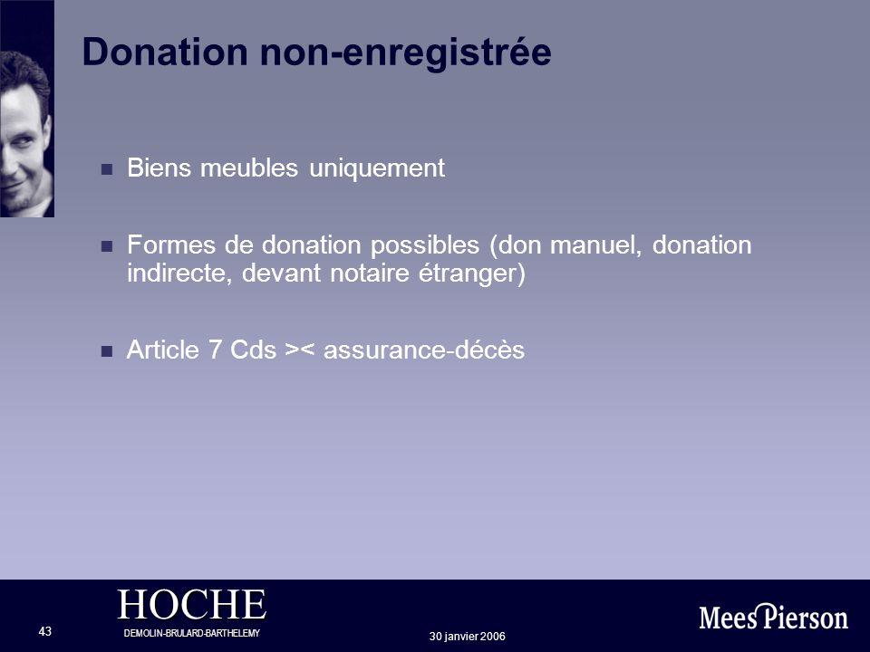 Donation non-enregistrée