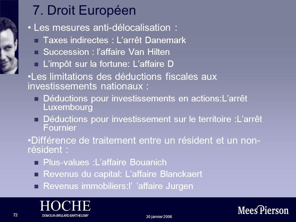 7. Droit Européen Les mesures anti-délocalisation :