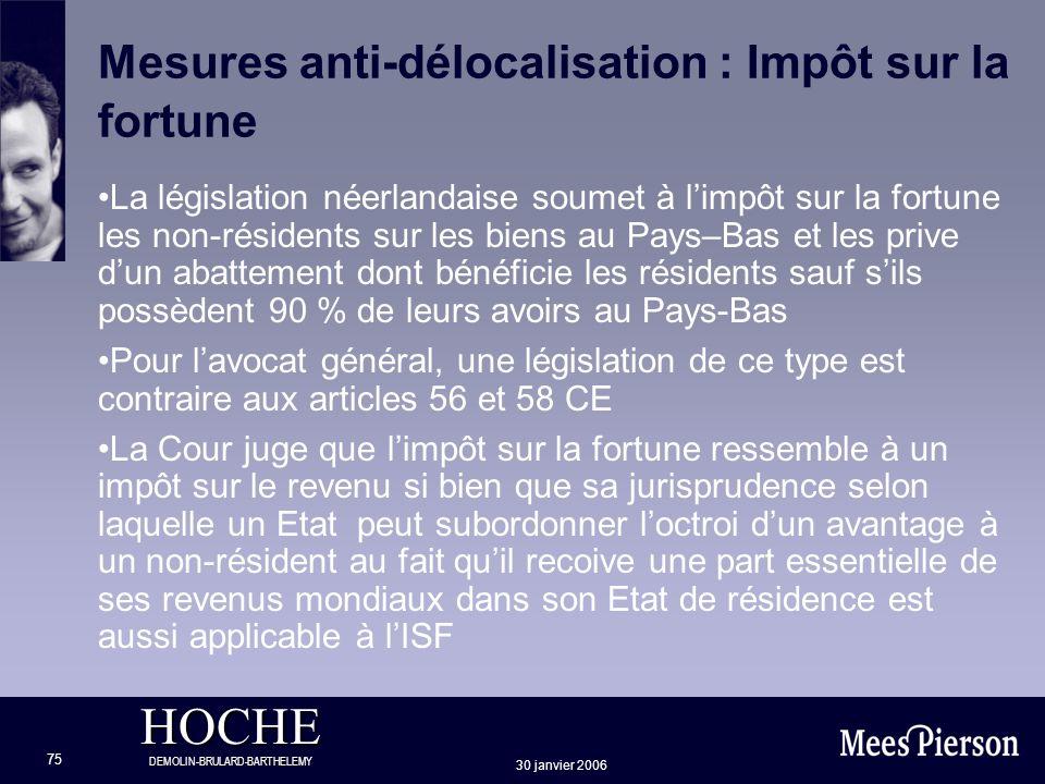 Mesures anti-délocalisation : Impôt sur la fortune