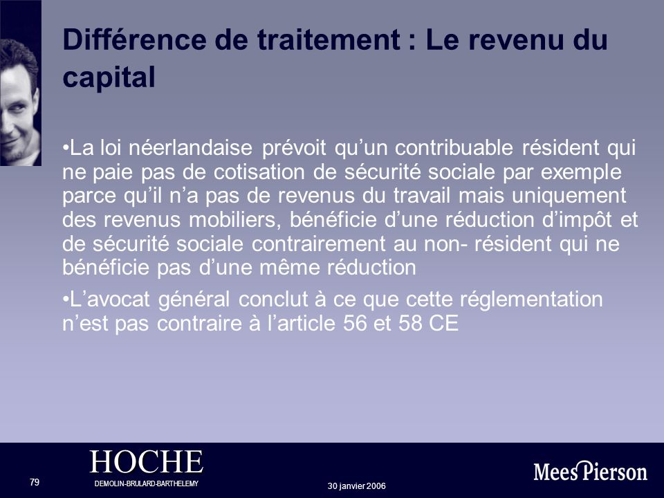 Différence de traitement : Le revenu du capital