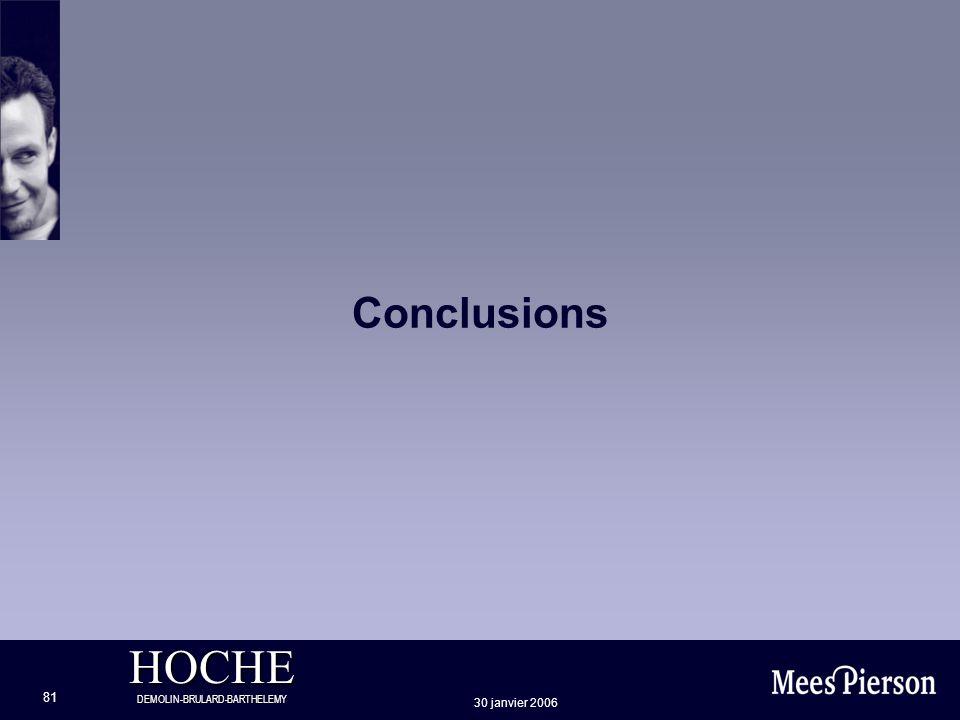 Conclusions 30 janvier 2006