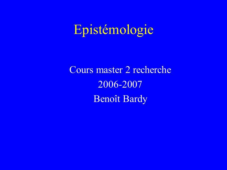 Cours master 2 recherche 2006-2007 Benoît Bardy