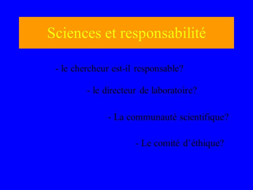 Sciences et responsabilité