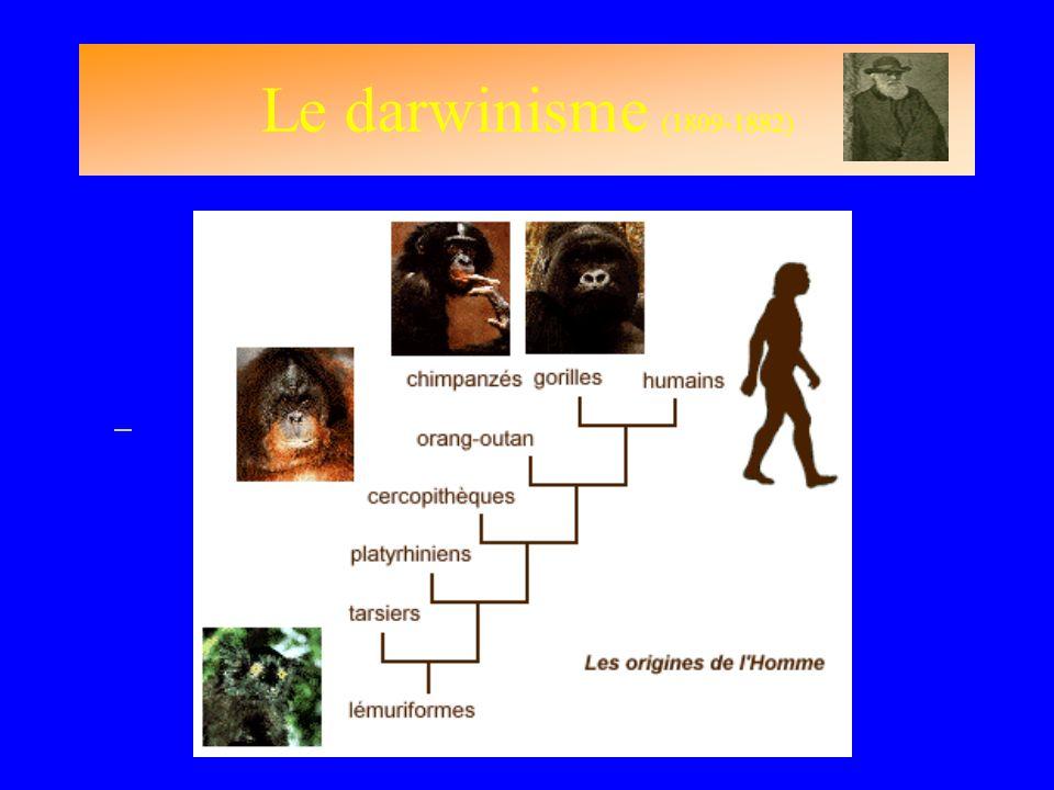 Le darwinisme (1809-1882)