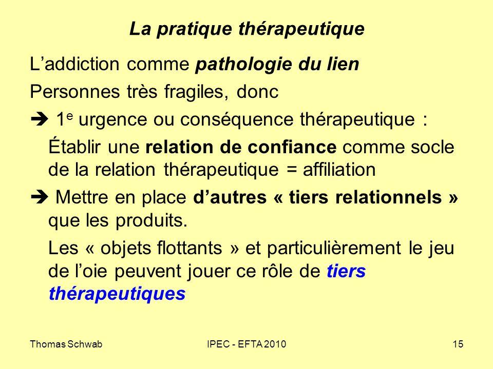 La pratique thérapeutique