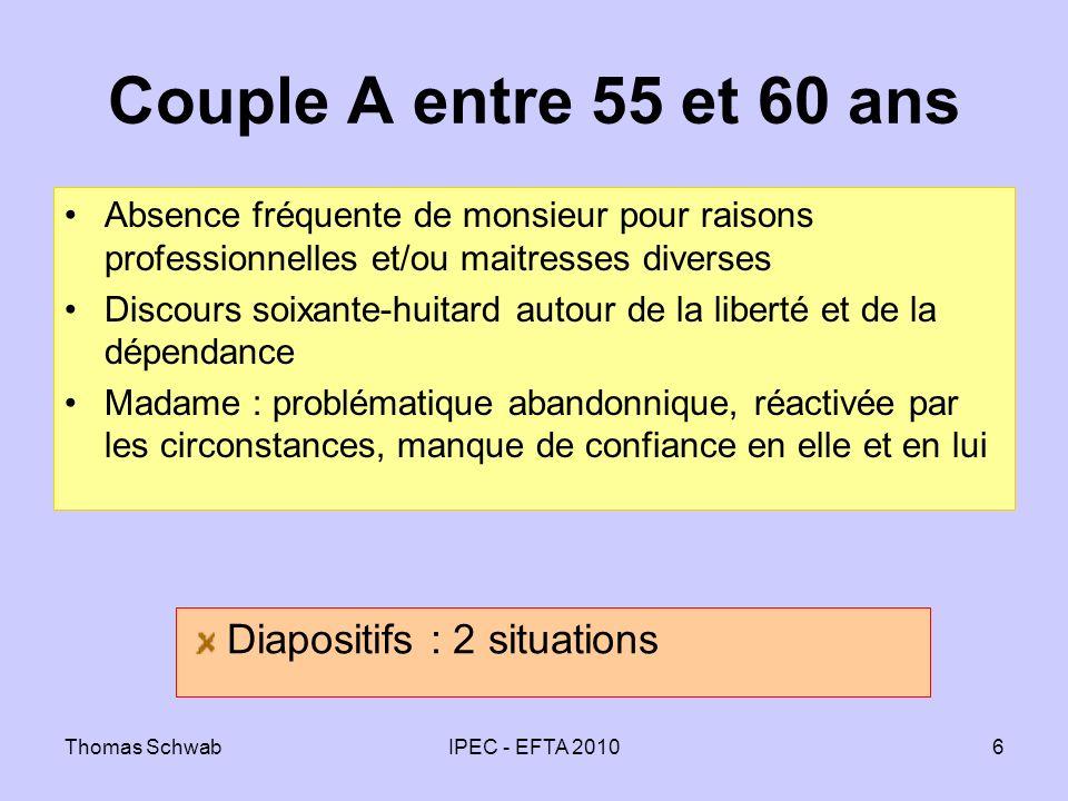 Couple A entre 55 et 60 ans Diapositifs : 2 situations