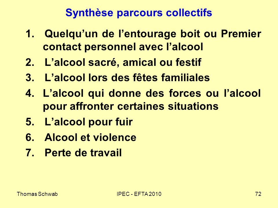 Synthèse parcours collectifs